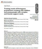 Training needs of Portuguese practitioners working with children and young people with complex and intense support needs